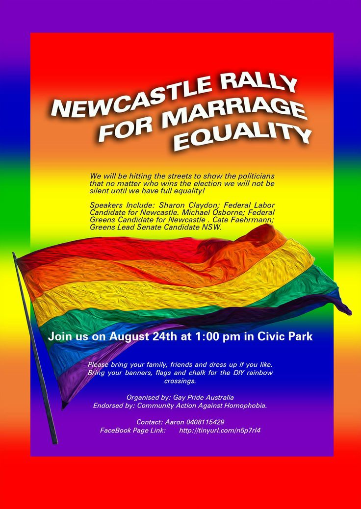 Newcastle Rally For Marriage Equality
