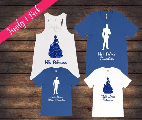 Cinderella and Prince Shirts Matching Family Shirts Disney