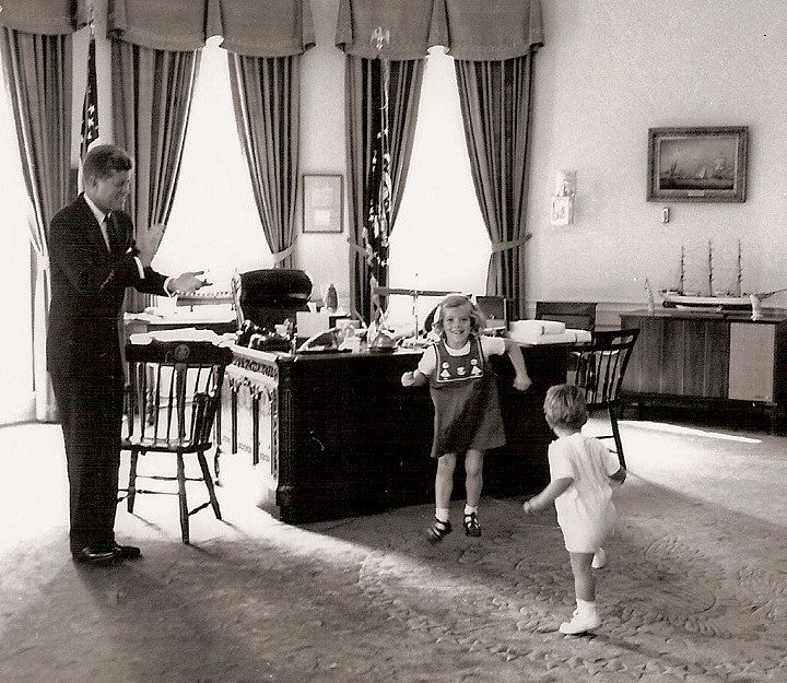 jfk in oval office. The History Place - John F. Kennedy Photo History: President, Caroline And Dance In Oval Office. Jfk Office F