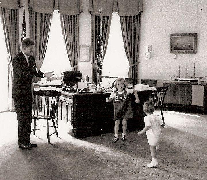 The History Place - John F. Kennedy Photo History: The President: Caroline and John Dance
