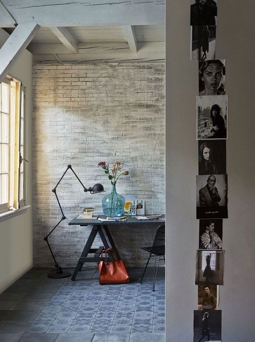Styling: Fietje Bruijn | Photographer: Dennis Brandsma vtwonen mei 2014 #vtwonen #magazine #interior #workspace #desk #tiles #homecollection
