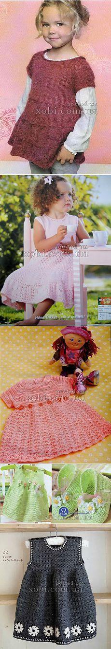 Детские платья, сарафаны и туники вязаные крючком и спицами » Страница 9