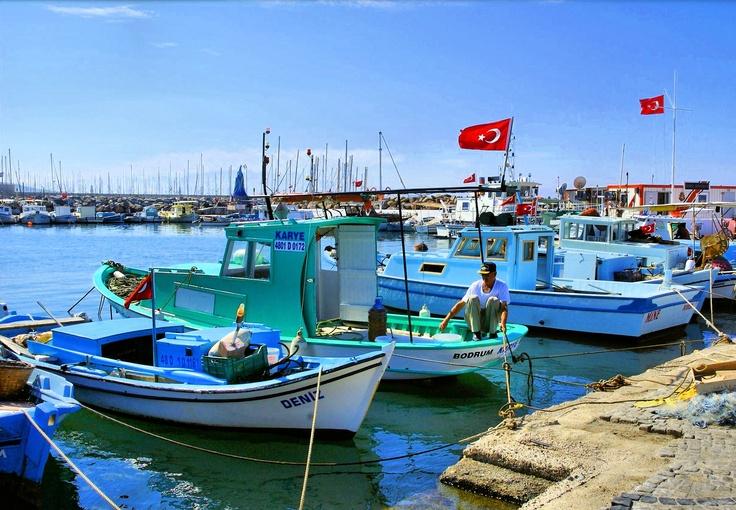 Turgutreis harbour, Bodrum Peninsula, Southwest Aegean Turkey