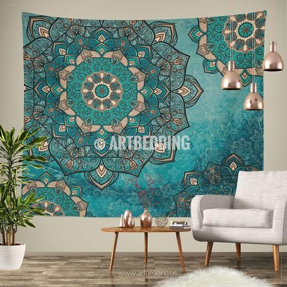 Bohemian TAPESTRY, Deco vintage mandala Wall hanging, Boho Mandala Wall Decor, Mandala Indie Tapestry, artbedding wall art