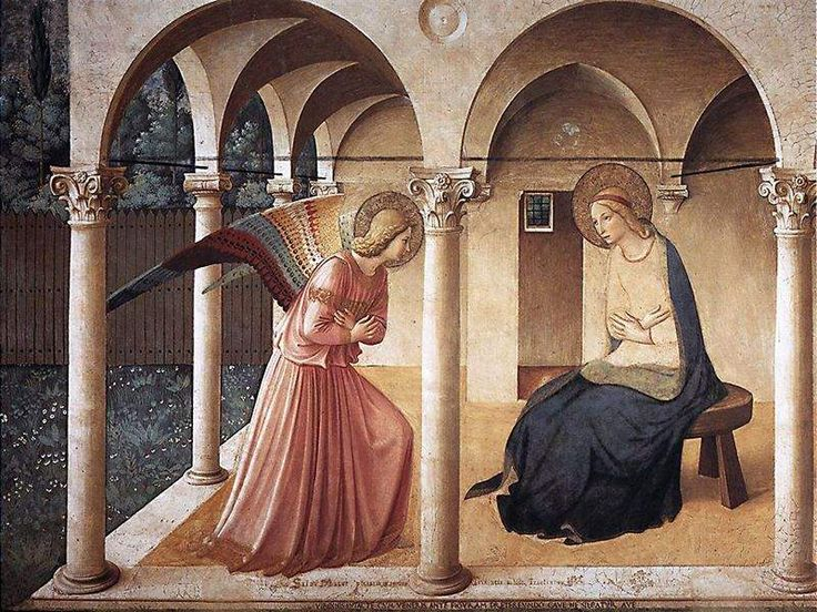 Beato Angelico, L'Annunciazione del corridoio Nord, convento di San Marco, Firenze