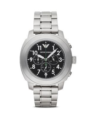 Emporio Armani 3-Hand Chronograph Watch, 46mm | Bloomingdale's