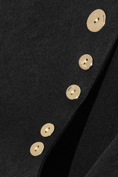 Ellery - Holy Unholy Embellished Satin-crepe Dress - Black - UK12