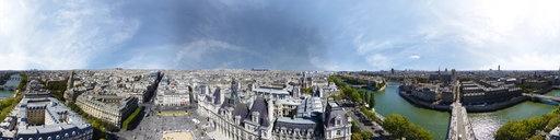 Hotel De Ville, Paris, France, aerial shoot, 360° VR @ 360cities.net