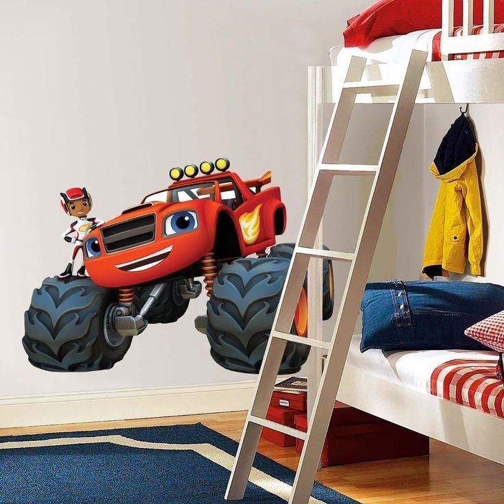Blaze Monster Machines Bedroom Room Stickers Kids Room