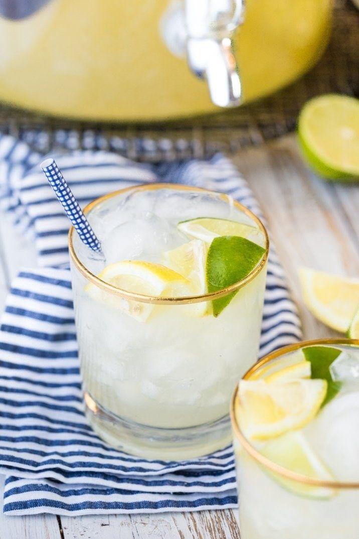 Gingery Bud Lite Lemon Punch #cocktails #bigbatch #budgetcocktails