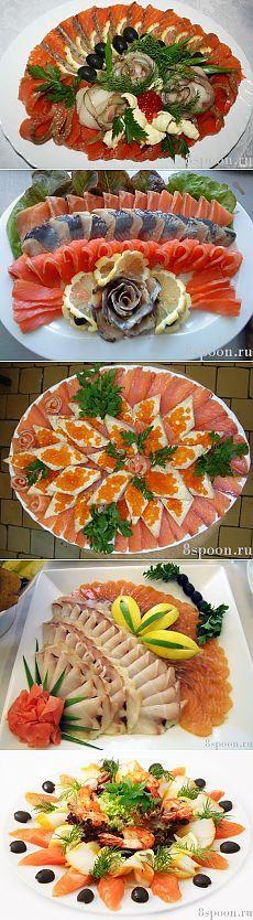 Рыбная нарезка: варианты оформления и подачи на праздничный стол