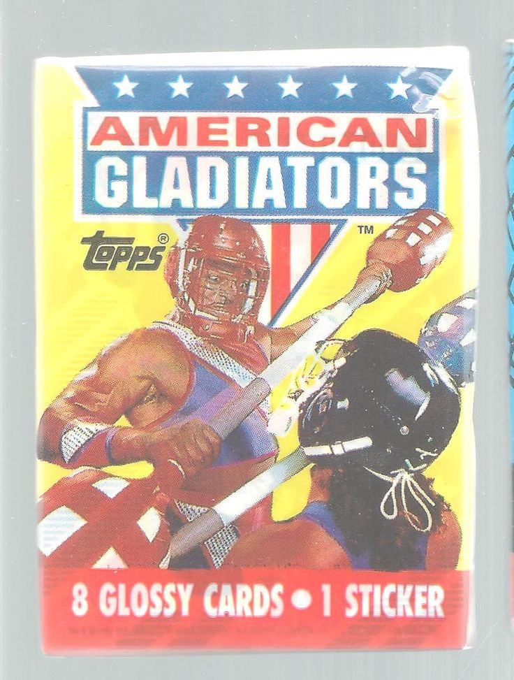 American Gladiators Trading Cards Lot of 5 Topps 1991