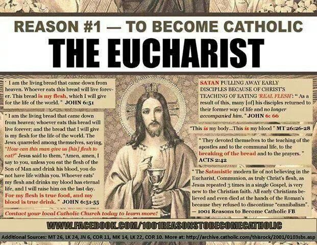 This IS the main reason I became Catholic. Belief in the Real Presence.