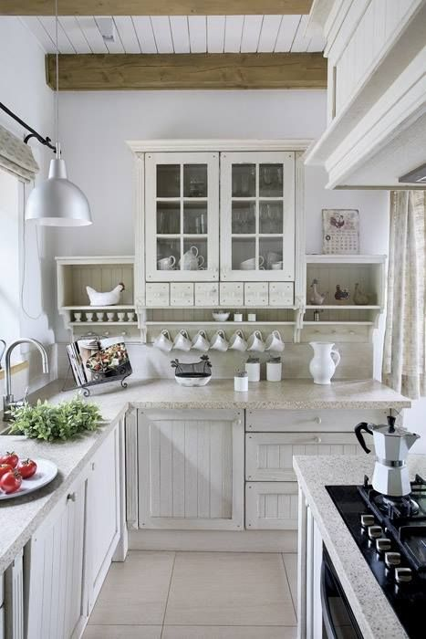 Cottage kitchen all white kitchen inspirations pinterest - All about kitchens ...