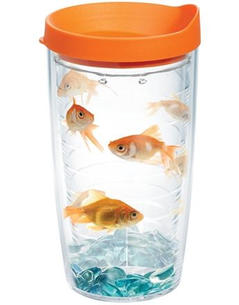 Goldfish with Lid | Tumblers, Mugs, Cups | Tervis .... this is too fun! I will have to get one! Anything that makes people wonder if that's real or not and has a HAHA factor is all me! :)