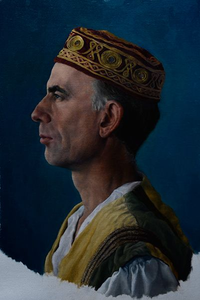 Frederic; Oil onto Linen Paper
