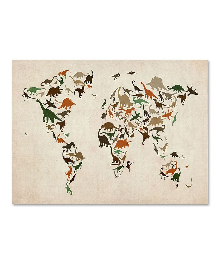 39 best dino images on pinterest boy rooms little boys rooms and take a look at this dinosaur world map ii gallery wrapped canvas on zulily today gumiabroncs Image collections