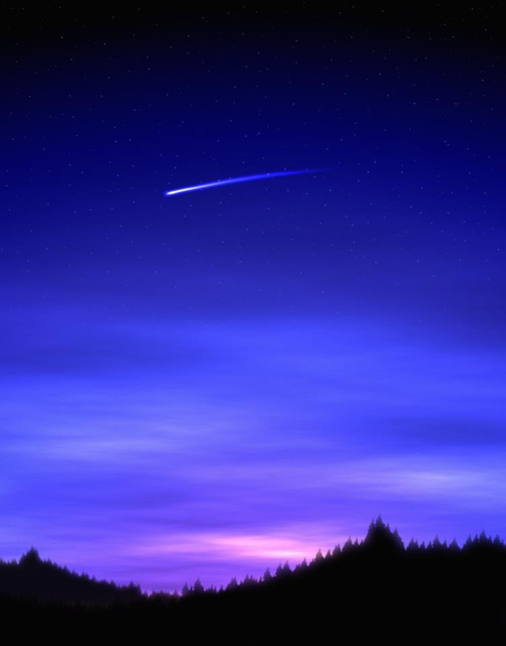 Saw a shooting star while driving home tonight.. Hopefully I get both wishes!