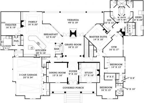 195 Best Images About House Plans On Pinterest House Plans Exercise Rooms And Craftsman