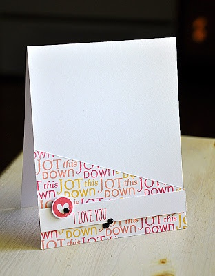Take Note Revisited - I Love You Card by Maile Belles for Papertrey Ink (June 2013)