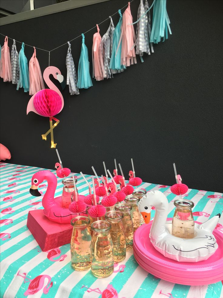 Flamingo party drinks  #flamingo #party #pink #flamingoparty