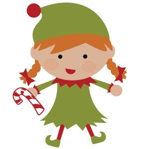 Girl Elf SVG file
