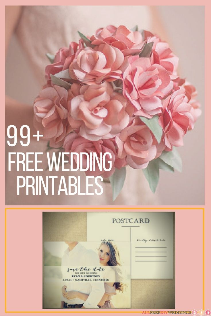 Free wedding printables are an awesome way to shave down any big wedding cost. With the right paper, a printer, and an adorable free printable, you can easily save money while creating adorable wedding invites, programs, or DIY wedding favors