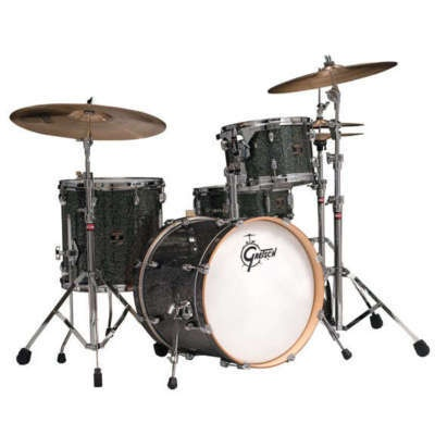 Gretsch Catalina Club Jazz 4 Piece Drum Set Galaxy Black Sparkle w OSP Hardware | eBay only $679!