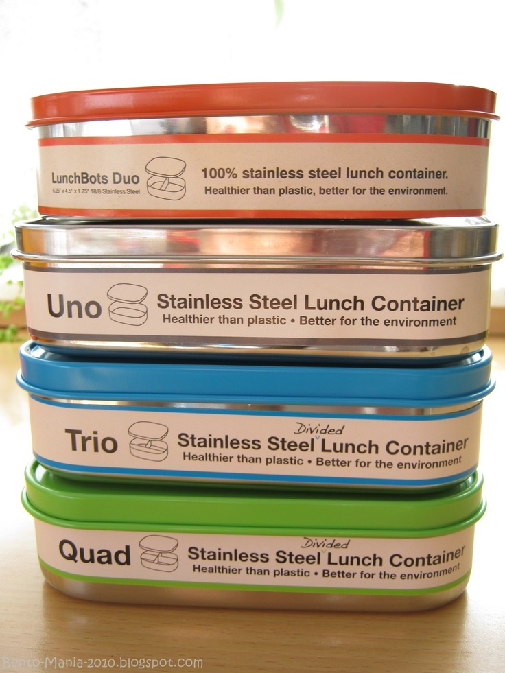 Getting These! - Stainless steel lunchboxes from LUNCHBOTS