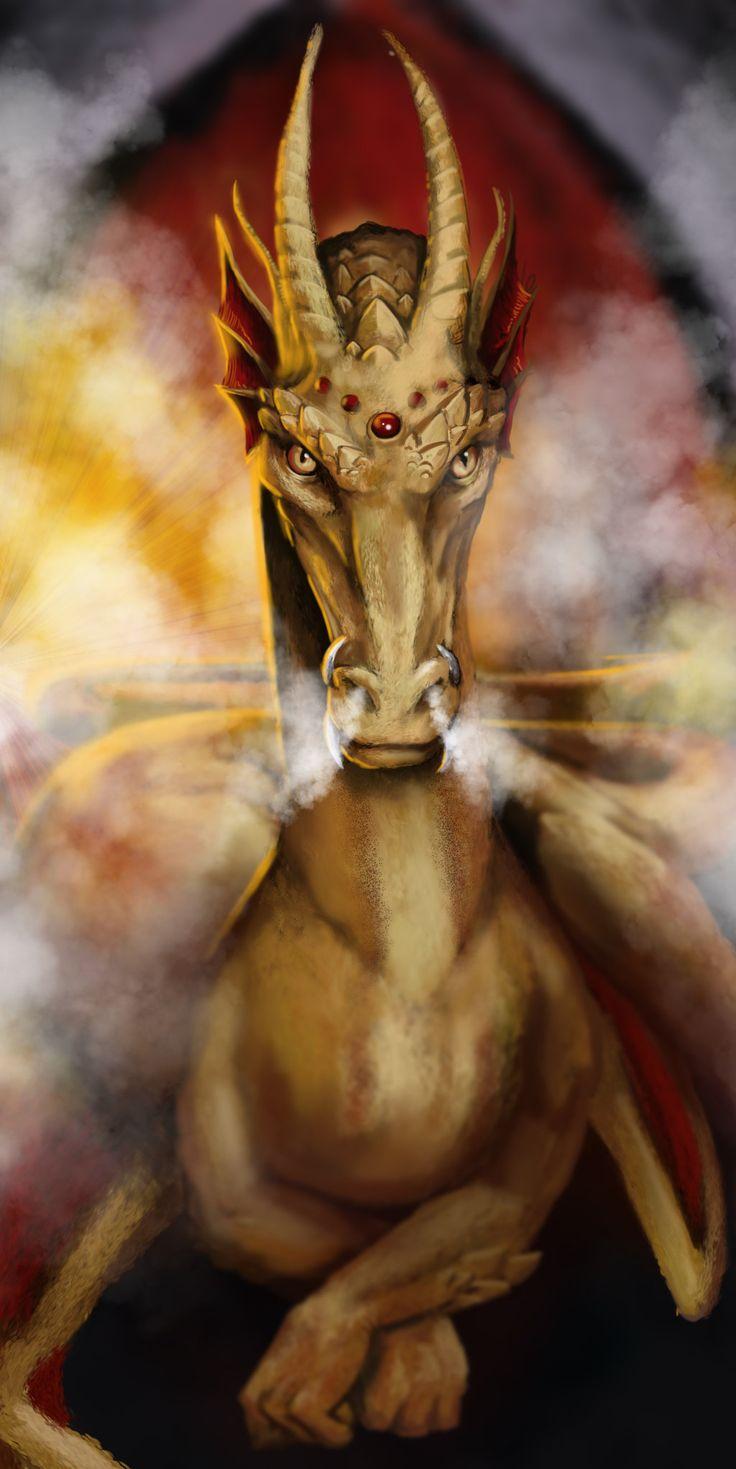 Golden Dragon - Speedpaint by *poisonmilow on deviantART