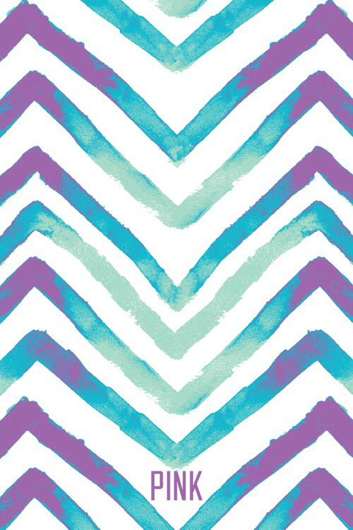purple blue and green chevron