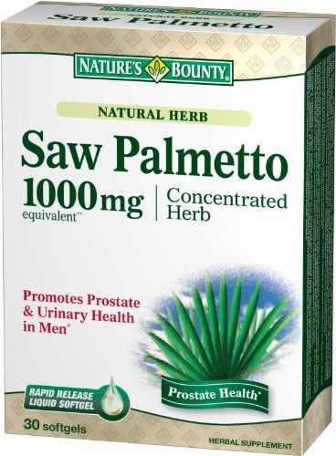 Nature's Bounty Natural Saw Palmetto 1000mg, 30 Softgels  (Pack of 2) by Nature's Bounty. Save 14 Off!. $13.73. Amazon.com Product Description      Saw Palmetto 1000 mg Concentrated Herb30 SoftgelsSaw Palmetto 1000 mgConcentrated HerbHelps support prostate and urinary health.*These rapid-release liquid softgels disperse rapidly into your system to support urinary flow.*Nature's Bounty Saw Palmetto Extract Natural Softgels feature saw palmetto, which is derived from the berry of the saw ...