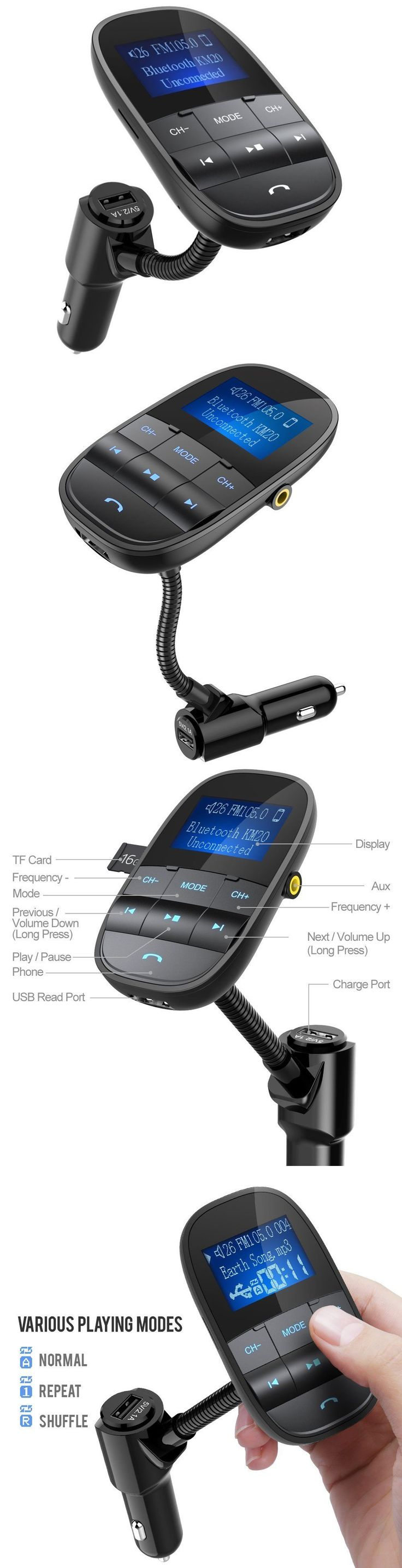 FM Transmitters: Wireless Bluetooth Fm Transmitter Radio Adapter Car Kit Hands Free Phone Mp3 Mp4 -> BUY IT NOW ONLY: $35.18 on eBay!
