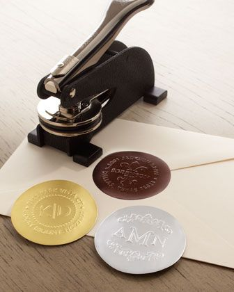 Three Initial Embosser // Add a personal touch your correspondence. Emboss your initials onto foiled seals.