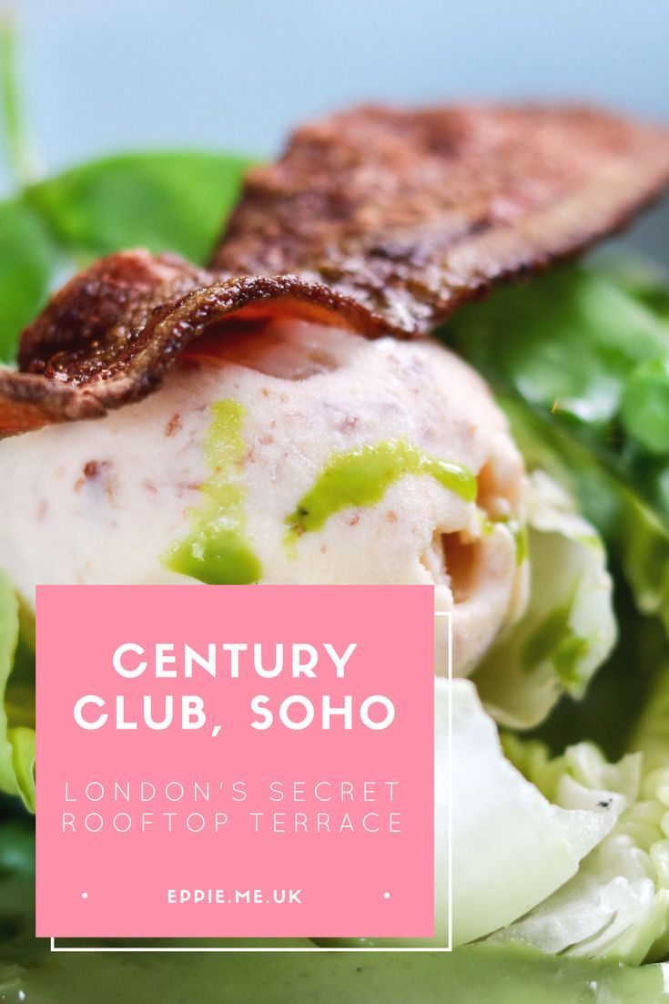 London's secret rooftop terrace in the exclusive Century Club Soho, a beautiful restaurant and bar with a unique menu