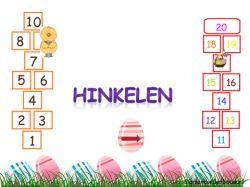 Digibordles: Hinkelen met Pasen 1 - 10 en 11 - 20 op http://digibordonderbouw.nl/index.php/themas/pasen/algemeenpasen/viewcategory/185