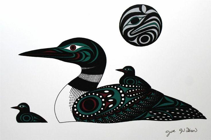 Joe Wilson - Loons --Print Northwest Coast Native Indian First Nations Cowichan