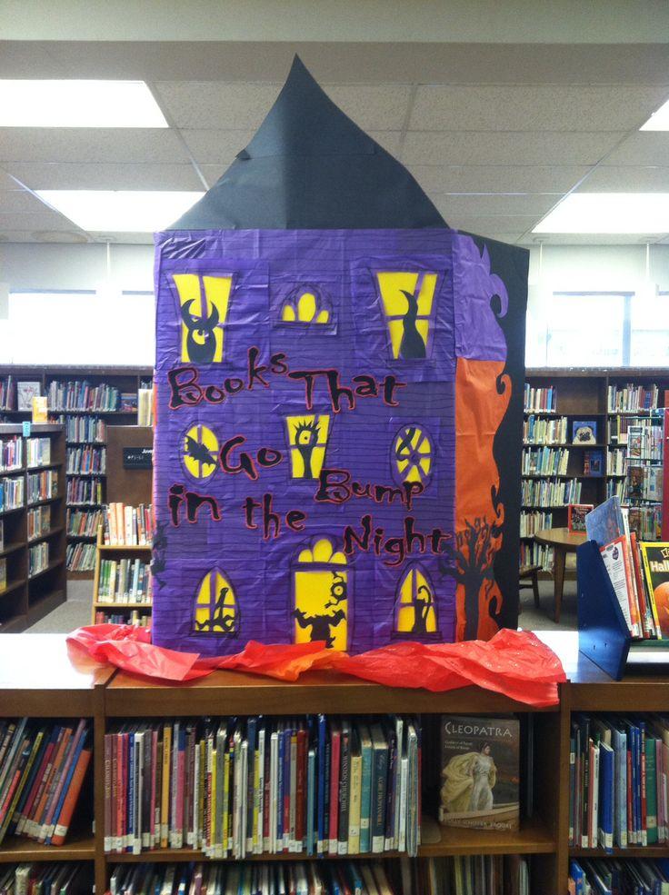 Classroom Layout Ideas Elementary ~ Halloween library display my displays