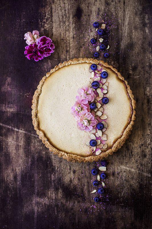 Lavender Tart with Honey Ricotta Filling | by saraghedina