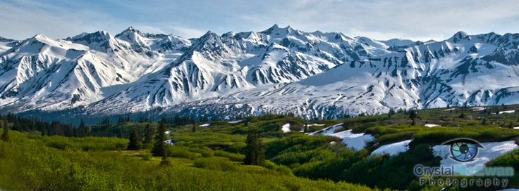 Mountain range in between Haines Junction, YK and Haines, AK.        This also has the right dimensions to be a Facebook timeline cover photo. :)