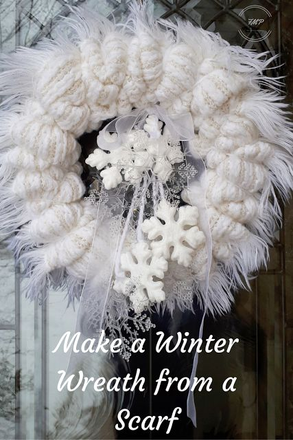 Fair Meadow Place - Make a Winter Wreath from a Scarf