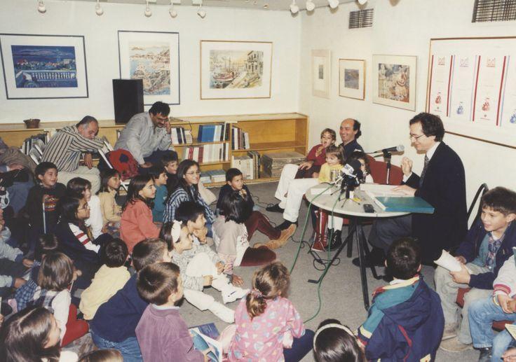 15-16/10/1996: Ο Ευγένιος Τριβιζάς συζητά με μικρούς και μεγάλους φίλους του.