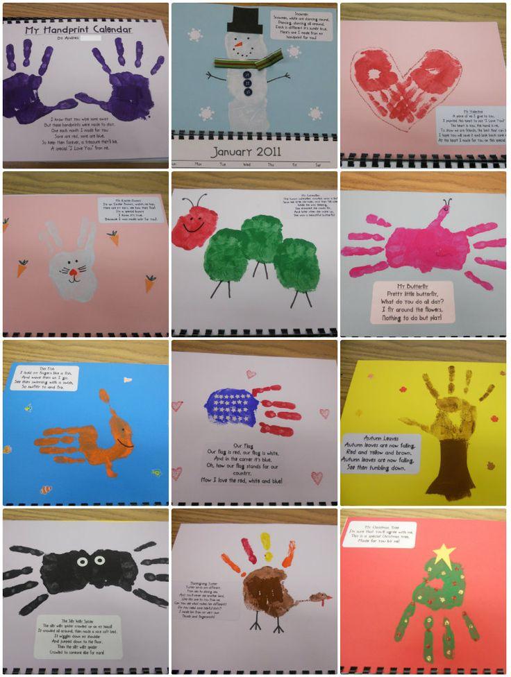 Calendar Handprint Art : Best handprint calendar preschool ideas on pinterest