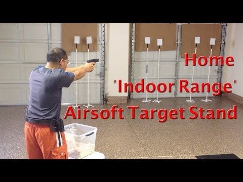 Cheap Airsoft Target Stand Youtube Airsoft Indoor Range Target