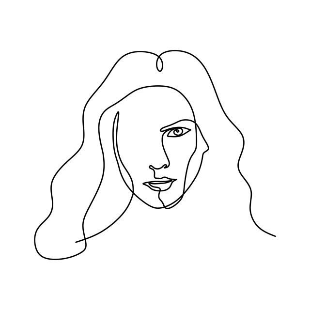 Abstract Face One Line Drawing Portrait Minimalistic Continuous Style Graphic Elegant Art Png And Vector With Transparent Background For Free Download Risovanie Portretov Portret Risovat