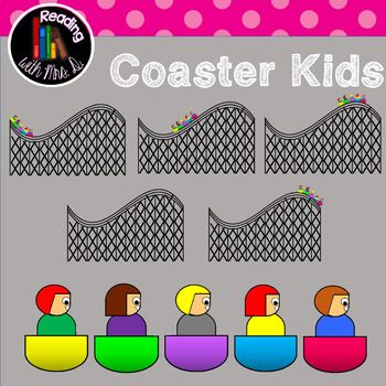In this new set of clip art, you'll find FIVE kids riding a roller coaster.  Includes: Blank Roller Coaster FIVE kids to layer and create your own custom roller coaster Coaster with kids at start Coaster with kids rising Coaster with kids at summit Coaster with kids coming back down  All coasters can be lined up together!