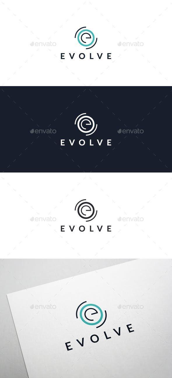 Evolve Logo Template — Vector EPS #technology #e letter logo