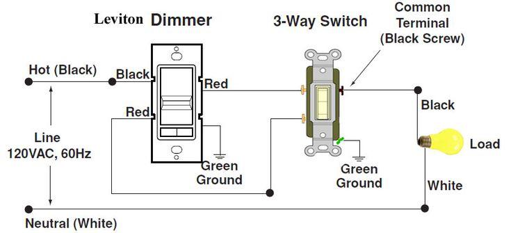 Dimmer Switch Light Wiring, Leviton Dimmer Switch Wiring Diagram