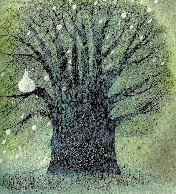 https://flic.kr/p/9wvTH3 | Alle Vögel auf den Bäumen jauchzen, jubeln | EIN KÖRNCHEN FÜR DEN PFAU (1970) Helga Aichinger