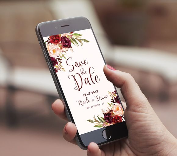 convite virtual save the date digital